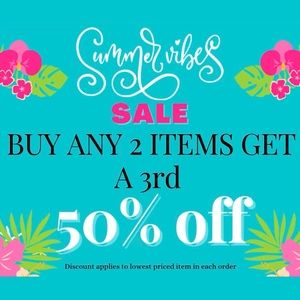 🎈SUMMER SALE! BUY 2 GET A 3rd 50% OFF! Clearance